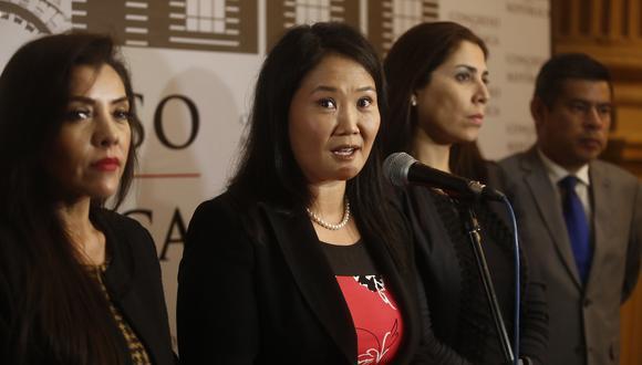 Keiko Fujimori fue detenida hoy en el Ministerio Público. (Perú21)