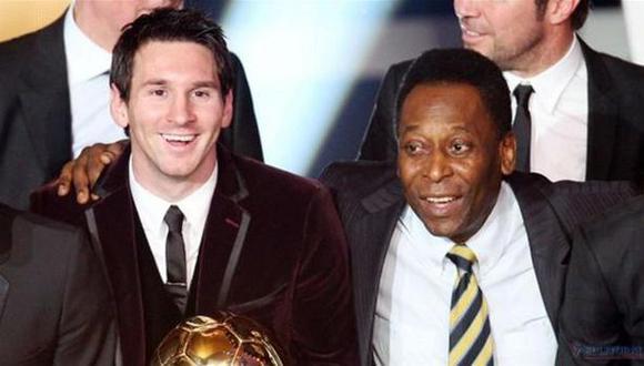 Lionel Messi y Pelé. (Foto: AFP)