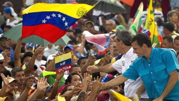 Capriles convoca multitudes en la recta final de la campaña. (Reuters)