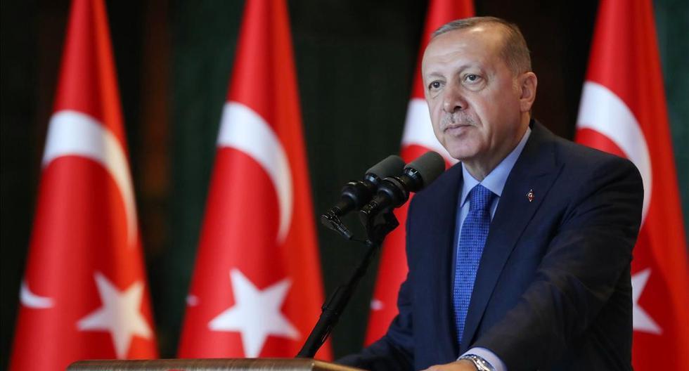 Imagen del presidente de Turquía, Recep Tayyip Erdogan. (AFP/ KAYHAN OZER).