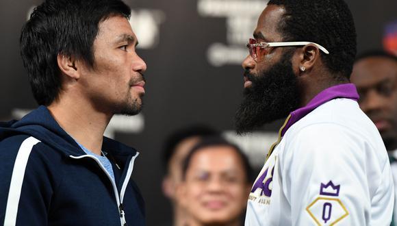 Pacquiao y Broner serán protagonistas de la pelea estelar este sábado 19 de enero desde el Grand Garden Arena de Las Vegas. (Foto: AFP)