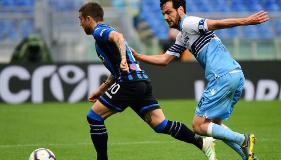 Lazio vs. Atalanta: chocan por la final de la Copa Italia. (Foto: AFP)