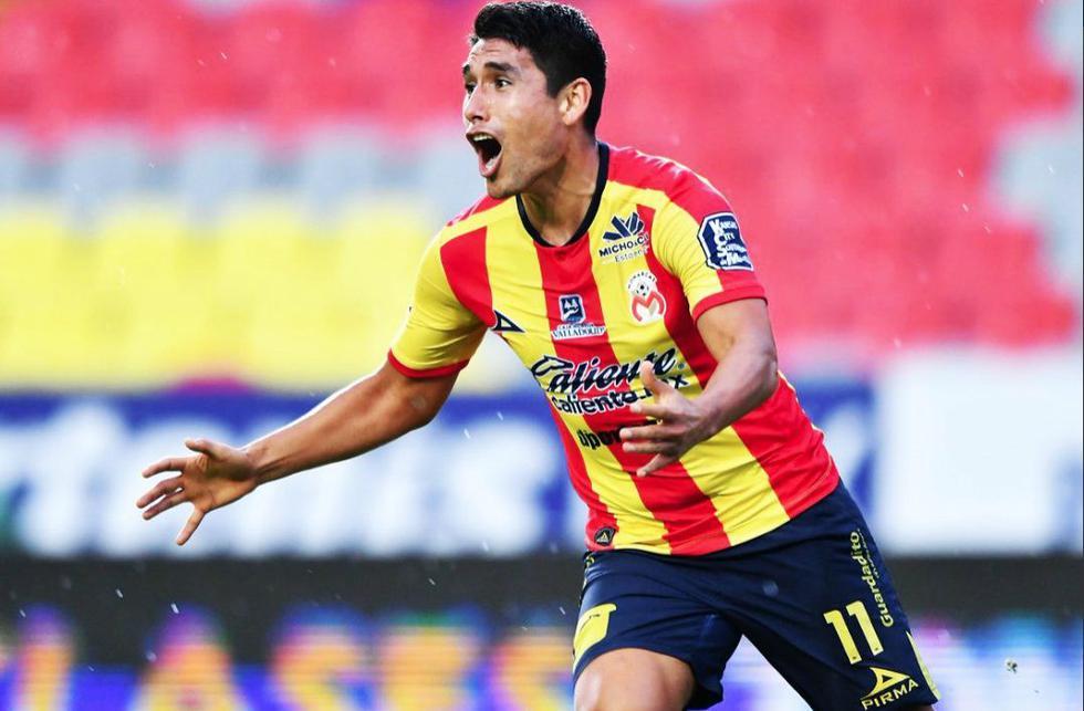 Irven Ávila anotó el 1-0 en el encuentro Monarcas Morelia vs. Pachuca. (Twitter Invictos)
