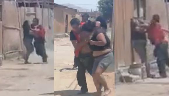 Áncash: Sujeto empuja y golpea a mujer en la calle y vecinos registran todo | VIDEO