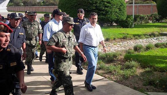 Ollanta Humala monitorea acción policial ante ola de crímenes. (Foto @cynthyamontes)