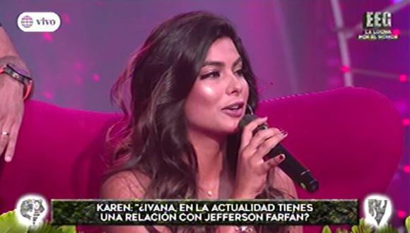 La modelo Ivana Yturbe sorprendió al responder las preguntas de sus compañeros. (Foto: Captura de video)