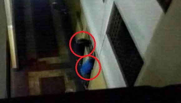 Un vecino del edificio pudo captar una fotografía del preciso momento. (América TV)