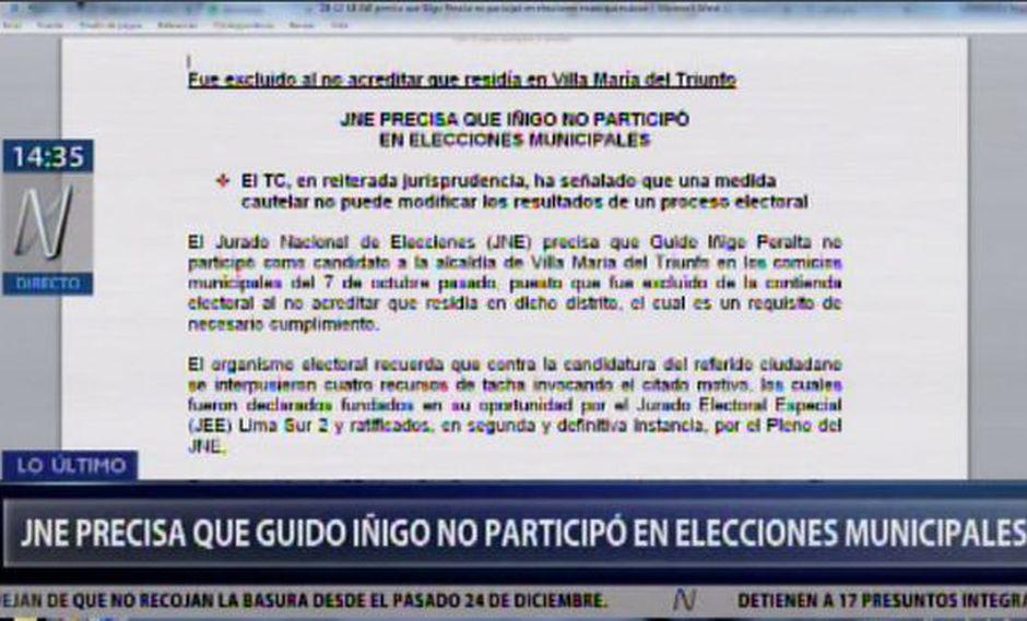 El JNE proclamó a Eloy Chávez Hernández como alcalde de Villa María del Triunfo. (Video: Canal N)