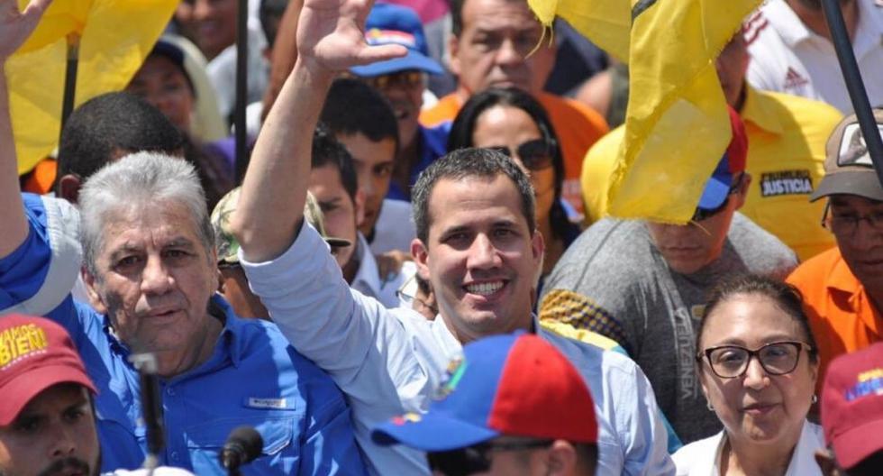 """Al finalizar la marcha, Juan Guaidó señaló que """"vencieron a la dictadura y su violencia"""". (Twitter /@jguaido)"""