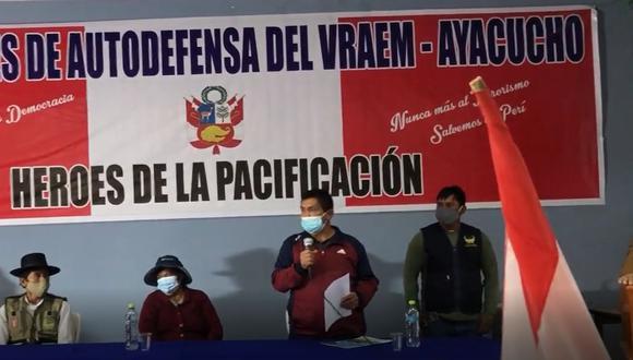 Comités de Autodefensa del Vraem rechazan y desmtienen a Pedro Castillo (Captura de pantalla).
