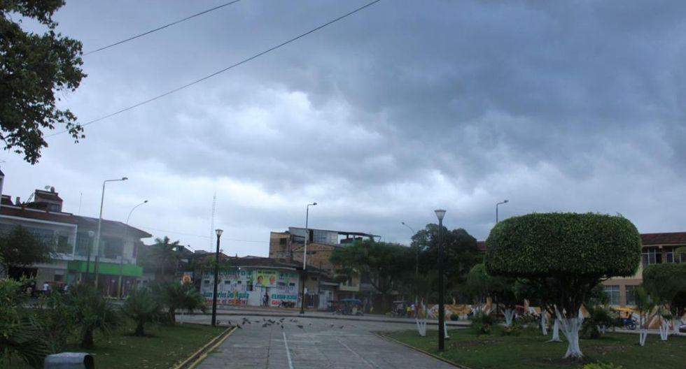 El Senamhi informó que esta lluvia es el inicio del segundo friaje del año y antecede la caída de temperatura nocturna en la selva. (Foto: Senamhi)