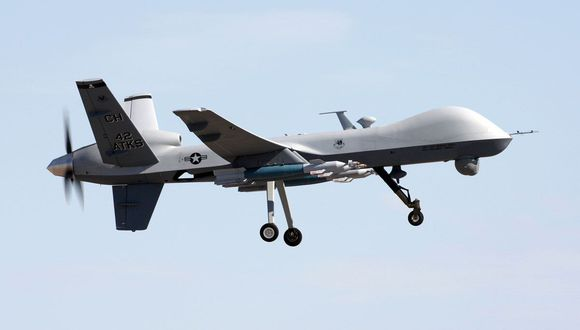 MQ-9 Reaper, el dron estadounidense encargado de la muerte del general iraní Qasem Soleimani. (Pentágono)