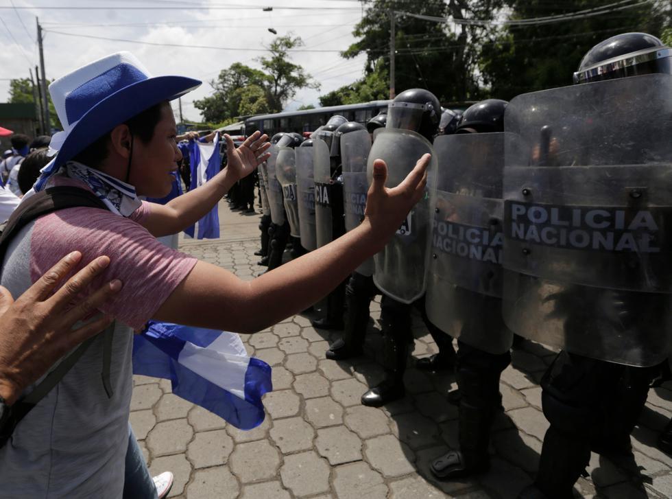 La protesta había sido convocada por familiares de manifestantes presos por participar en las manifestaciones contra el gobierno. (Foto: AFP)