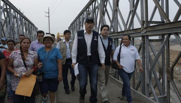 Vizcarra aclaró que los puentes serán reconstruidos para que soporten incremento de caudal. (Perú21)