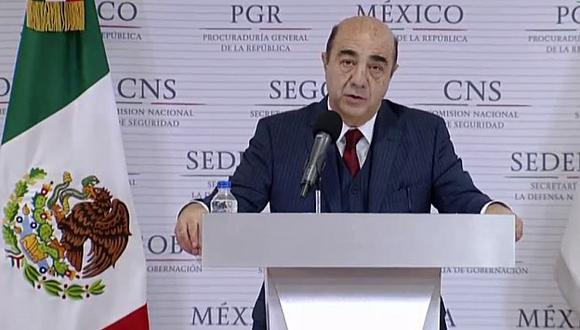 El fiscal general, Jesús Murillo Karam, realizó el anuncio en una conferencia de prensa. (Captura Youtube)