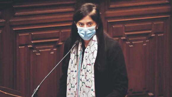 Ministra María Antonieta Alva volverá a presentarse ante el Congreso para responder interpelación (PCM).