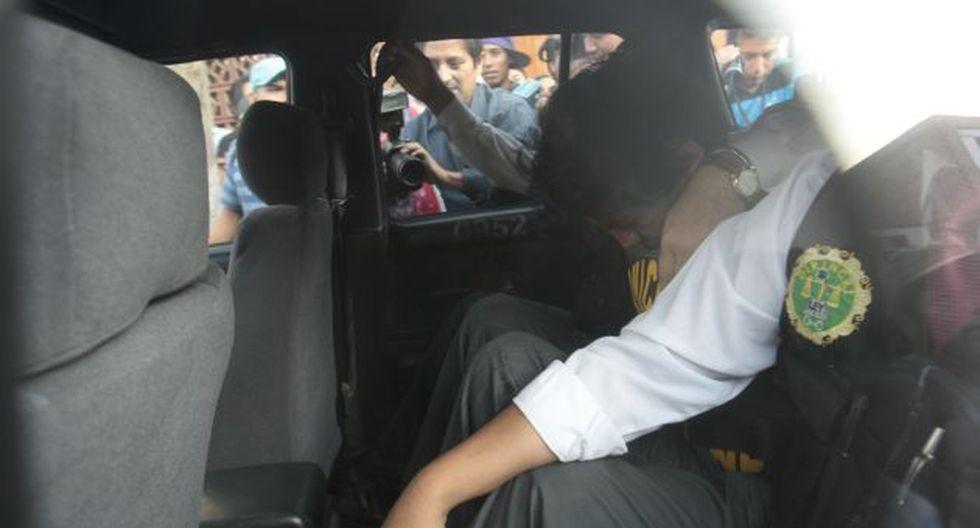 CONTINÚA INVESTIGACIÓN. Luego de la diligencia, el detenido fue trasladado a la sede la Dirincri. (Rolando Ángeles/USI)