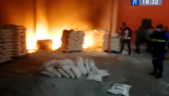 Solo se reportaron pérdidas materiales en Huachipa. (Foto: Captura Canal N)