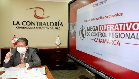 Cajamarca: El contralor general, Nelson Shack, informó que detectaron un perjuicio económico de más de S/ 40 millones en diferentes entidades estatales de la región durante el 2020. (Foto Contraloría)