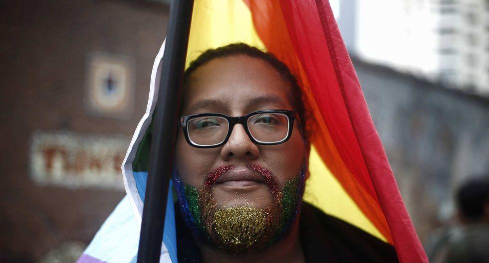 Así llega la comunidad LGTB. (Renzo Salazar)