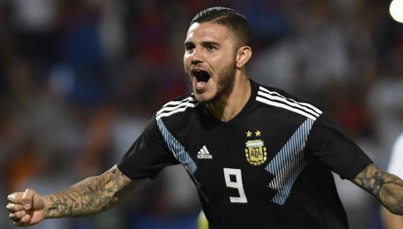 Mauro Icardi marcó por primera vez con la camiseta de Argentina (Foto: AFP).