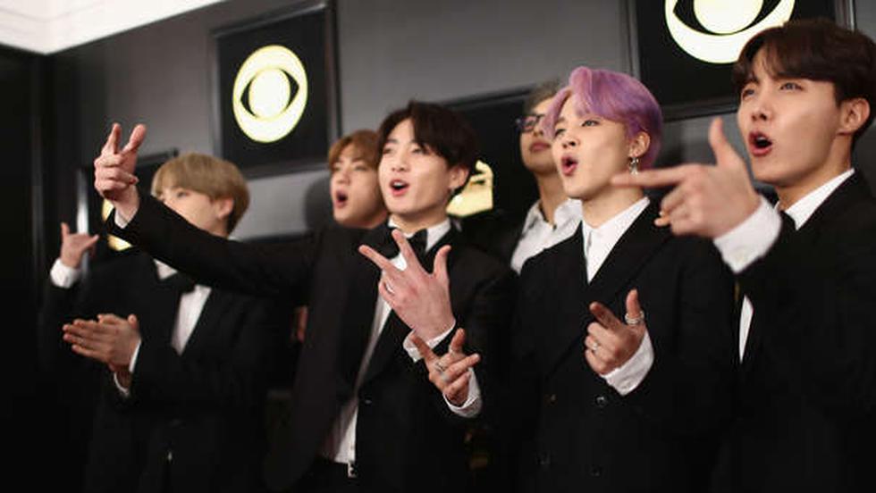 A pesar que no ganaron, BTS disfrutó cada momento del show musical que se realizó en Los Ángeles. (Getty Images)