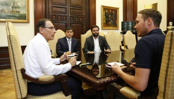 El presidente Martín Vizcarra y el alcalde de La Victoria, George Forsyth, también acordaron luchar contra la corrupción en el distrito.