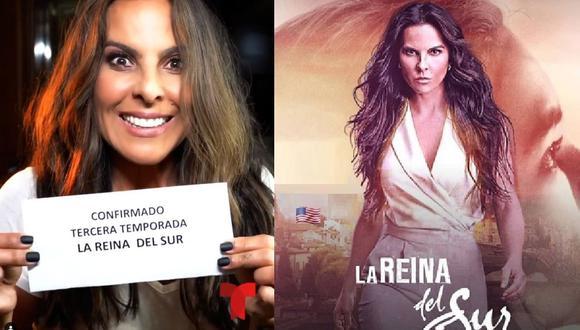 Kate del Castillo confirma la tercera temporada de 'La reina del sur' (Instagram: @katedelcastillo)