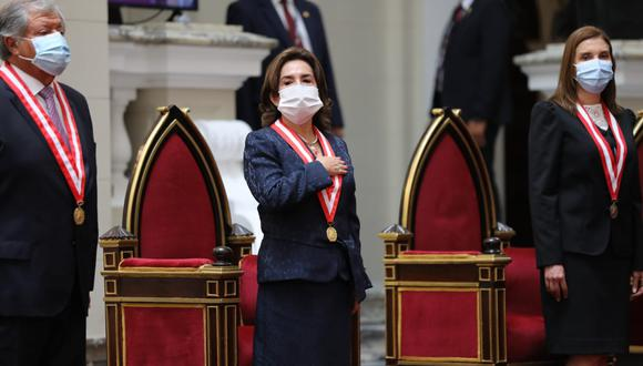 La presidenta del Poder Judicial, Elvia Barrios, asumió el cargo este lunes para el período 2021-2022. (Foto: Poder Judicial)