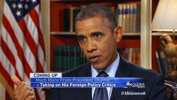 Obama ofreció una entrevista a la cadena ABC. (AP)