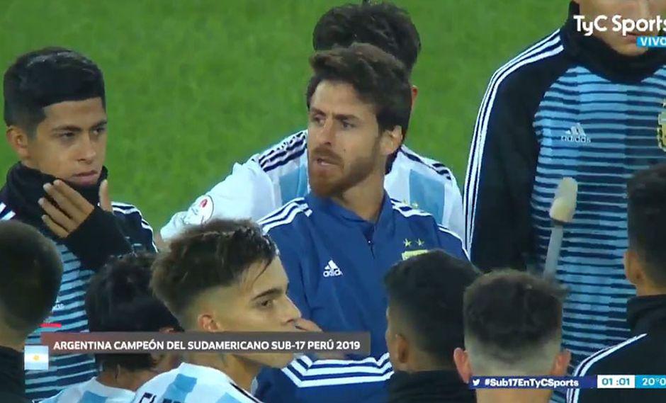 Pablo Aimar, DT Selección Argentina Sub 17, y su reacción tras ser goleado por Ecuador. (Video: TyC Sports)