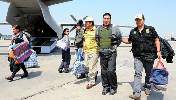 Los detenidos del Movadef en cinco regiones del Perú fueron traídos a Lima.  (USI)