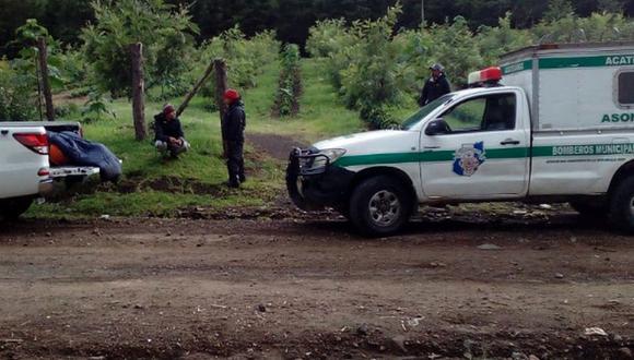 El cuerpo de McCormick fue descendido desde el cráter hacia la finca Concepción, ubicada en el municipio de San Miguel Dueñas. (Foto: Twitter - @CBMDEPTAL)