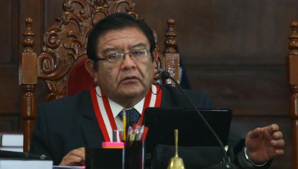 El presidente del JNE, Jorge Luis Salas Arenas, participó en reunión de trabajo virtual con el director del Departamento para la Cooperación y Observación Electoral de la OEA. (Foto. GEC)