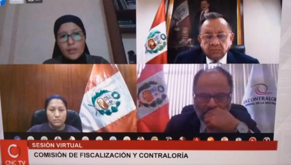 La Comisión de Fiscalización del Congreso reanudó hoy sus sesiones virtuales. (Foto: Perú21)