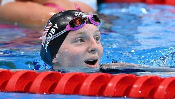 Para algunos, Lydia Jacoby puede convertirse en una de las mejores nadadoras de la historia. (Foto: Attila Kisbenedek / AFP)