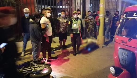 En menos de un mes se han registrado cuatro asesinatos en la ciudad de Ica. La Policía Nacional llegó a la escena del crimen para continuar con las investigaciones del caso (Foto: PNP)