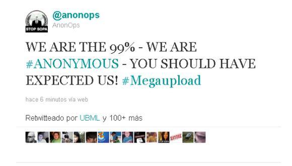 El colectivo confirmó la autoría a través de su cuenta en Twitter.