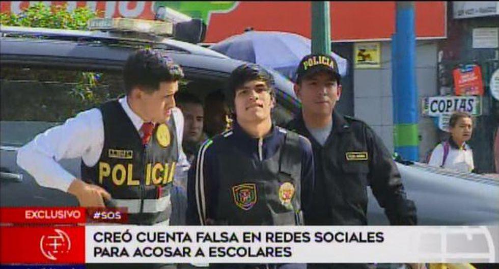 César Yoshua Cruz Tavalera fue denunciado por escolares. (Foto: Captura América Noticias)
