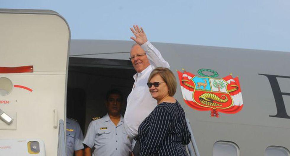 El presidente Pedro Pablo Kuczynski despegó esta mañana rumbo a Chile. (Presidencia)