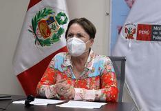 """Ministra Rosario Sasieta: """"Saludamos la madurez del Congreso"""" por no apoyar vacancia presidencial"""