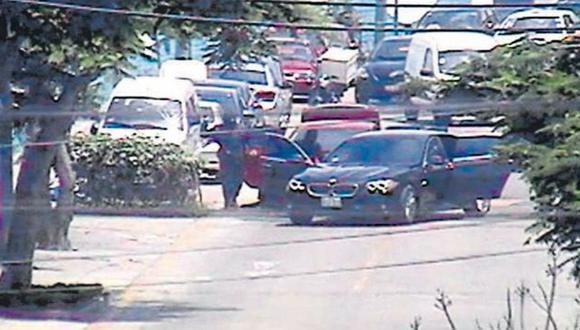 De cuidado. Uno de estos vehículos fue empleado en San Borja para asaltar a un cambista. (Captura de TV)
