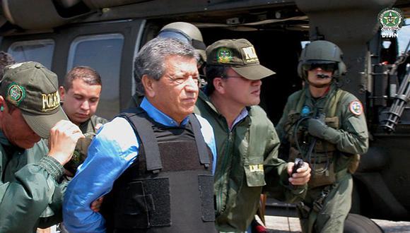 Miguel Rodríguez Orejuela detenido por la policía (Foto: STR / Policía Nacional de Colombia / AFP)