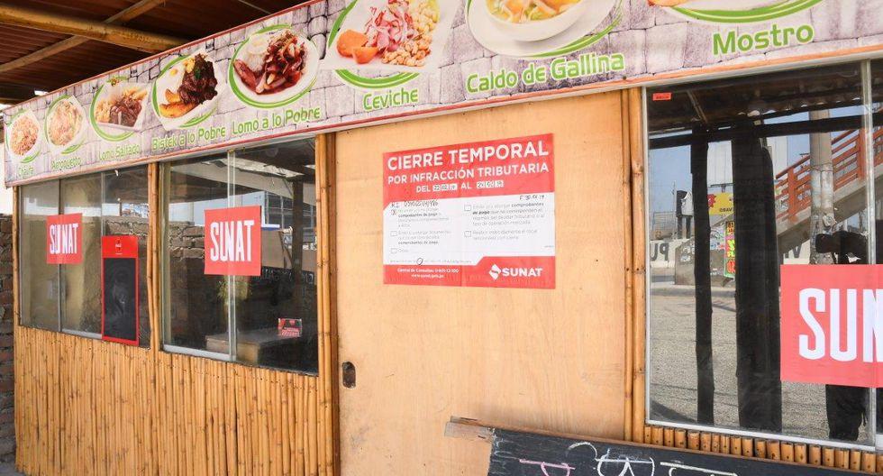 Desde el último fin de semana, Sunat procedió con la clausura de locales que no emitían comprobantes de pago. (Foto: Sunat)