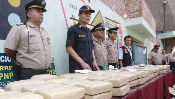 La droga se encontraba distribuida en 101 paquetes. (USI/Referencial)
