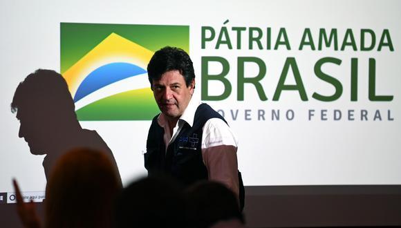 Exministro de Salud de Brasil, Luiz Henrique Mandetta, luego de su despido, agradeció la oportunidad al presidente Jair Bolsonaro. (Foto: AFP/Evaristo Sa)