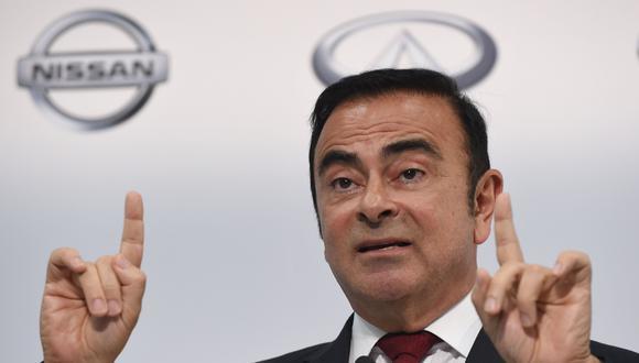 Carlos Ghosn causó a Nissan pérdidas por US$5 millones durante un período de dos años y medio, según sostienenfiscales de Tokio. (Foto: AFP)