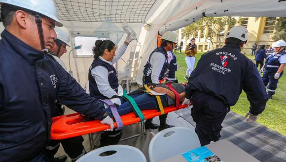 El Ministerio de Salud presentó el equipamiento y personal que atenderá emergencias por lluvias en diferentes regiones. (Minsa)