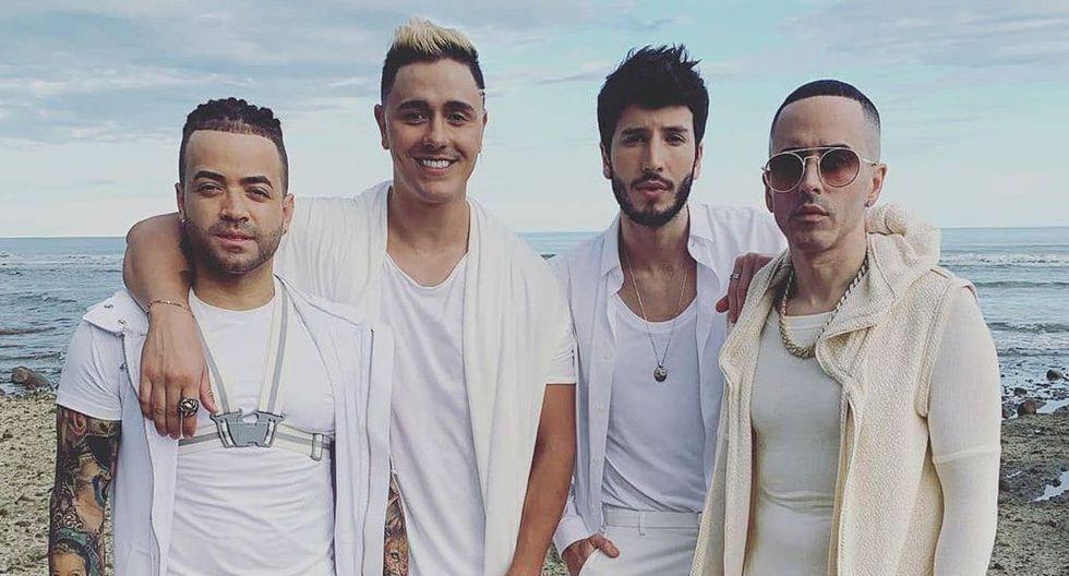 """Nacho, Sebastián Yatra, Yandel y Joey Montana se unen para lanzar el tema """"Ya no más"""". (Foto: @2wolvesfilms)"""