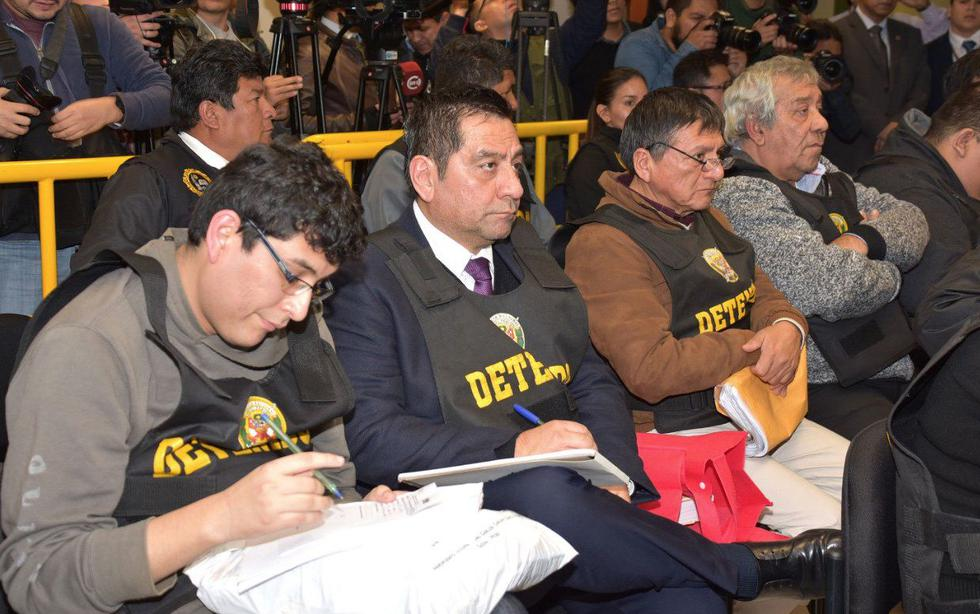 Abogados de los miembros de 'Los cuellos blanco del puerto' pidieron más tiempo para revisar la acusación fiscal, pues lo recibieron ayer. (@Poder_judicial_)